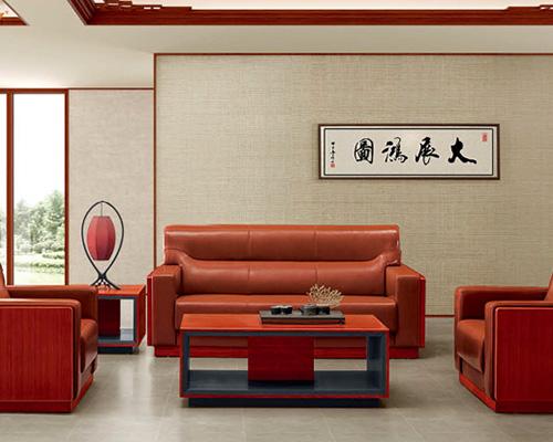 HY-SAJN6616泰柚木真皮沙发