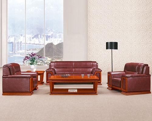 东莞HY-S946牛皮办公沙发