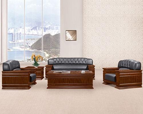 东莞HY-S949牛皮办公沙发