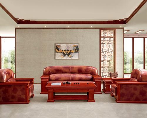 新中式实木沙发组合  HY-SJN6619