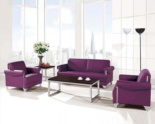 不锈钢脚紫沙发HY-F1001
